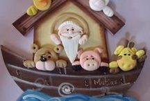 arca de Noe / diferentes diseños del arca de Noe para decorar habitación de niños. Sígueme por favor.(Follow me please)