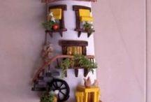 tejas / tejas decorativas, tejas artesanales, decoración de tejas, arte en tejas!!! Sígueme por favor.(Follow me please)