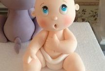 baby shower / recordatorios para baby shower en porcelanicron/porcelana fría (polymer clay)