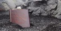 HÔRD \\ Products I Make / Our personalised hip flasks and leather goods - jewellery, harnesses, accessories