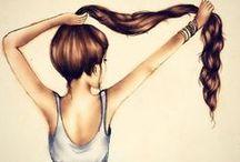 Long Hair & Beauty Ideas / original braids,interesting updos, long beautiful locks, makeup how-tos and beauty suggestions