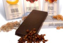 Vegan Chocolates / Vegan chocolate bars combine premium dark vegan chocolate and natural fruits for a purely delicious indulgence!