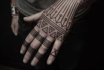 INK \\ tattoos / Still yet to get one, but here is some inspiration for you and me, #geometric #blacklines