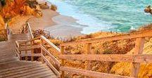 Les plus belles plages que j'ai faites / Voyages, Voyager, Portugal, Californie, Plages, Paysages, Paradis, Paradisiaques, Océan, Mer, Sable