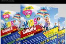 Kids Flyer  / Print Template / PSD