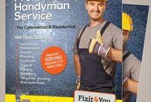 Handyman Services Flyers /  Print Templates / PSD