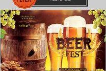 Beer Flyer / Restaurant Menu / Print Templates / PSD / バナー / Brochures / Banners / Ads / Banners & Ads / Web Elements / Restaurant Menu / バナー