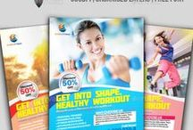 Fitness Flyer / Print Templates / PSD