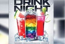 Drinking flyers / Print Templates / PSD