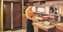 1970s kitchen / 1970s kitchen decor featured in Lunch Lady Magazine.