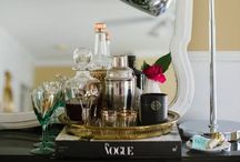 Bar Styling / Not a drinker, but I love the aesthetic of a styled bar cart!  / by Erica Lindsay