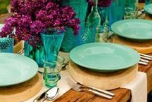 Turquoise Weddings / The color of the sea on a bright day or the tail of a peacock, bring some bold color to your wedding with turquoise!