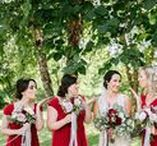 Red Weddings / Vibrant and rich, this color will be sure to add a little drama to any wedding.
