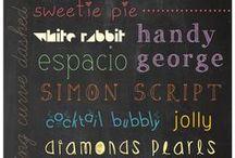 Fonts / by Christina