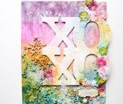 Canvas with Lindy's / Check out these stunning canvas and mixed media projects created using Lindy's sprays, paints and embossing powders