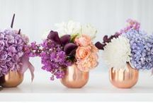 Inspiration - Purple, & Peach Vineyard Vacation / Vineyard Wedding Inspiration. Purple and peach colorway with touches of lavender and copper. Whispy florals lavender flowers.
