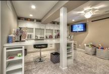 Tour a Finished Basement with Craft Room & Guest Suite / Mosby transforms an unfinished basement in a Wentzville, MO home into a multi-taking lower level. Learn more about this basement remodeling project at: http://bit.ly/2cAwc7L