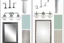One Bathroom, Two Budgets / Once you have the look, it's relatively easy to make selectons that will stay within your budget. Mosby Building Arts designer Jillian Brinkman illustrates how this works, with both a Modest Budget and a Lavish Budget. Read the article at: http://www.mosbybuildingarts.com/blog/2016/09/20/designer-talk-one-bathroom-two-budgets/