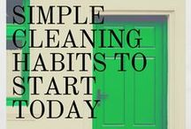 Cleaning Habits to Start Today / Cleaning doesn't have to be hard or expensive. This board has all the best cleaning tips you should start today.