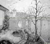 ❤Sketches#graphics#drawings#эскизы#графика#art❤ / #garden#desing#