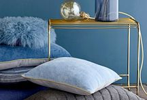 Moodboard Bedroom in Denim Blue / Een moodboard voor een slaapkamer van een klant met als uitgangspunt Denim Drift van Flexa.