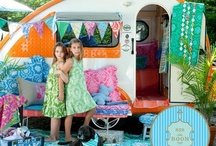 Cool Campers / Had a vintage camper,as a child, that was my playhouse...wonderful memories of sleepovers and summer fun... / by Gayla Whitfield