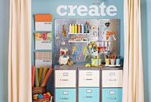 Craft Room Someday / Craft organization.  Ideas for creating a pretty and functional craft room.