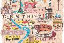 Maps,illustrations / by Kiti Lila