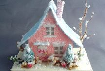 Craft - Glitter House / Putz Christmas Houses / by Gayla Whitfield