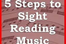 Sight reading music