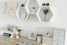 Home Office Inspiration / Interior design and decor inspiration for home offices - if you're going to work from home, you need a well-decorated office space!