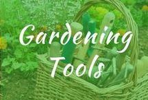 Gardening Tools / Gardening tool essentials and must haves. DIY storage organization for plant markers, homemade gardening tools, vintage tools. Shed for best cleaning and repurposed gardening tools.