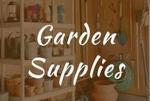 Garden Supplies / Garden supplies, products, storage, tools and pallet planters. Company organization and store ideas for beginners. Complete DIY list for raised beds.