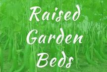 Raised Garden Beds / Raised garden beds. DIY plans and ideas for backyard for cheap. Layout for vegetables, stone, soil. How to build galvanized. Elevated with cinder blocks.