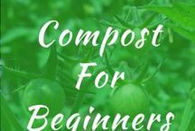 Compost For Beginners / Compost for beginners and how to make bins. Grow in apartment or backyard. DIY ideas and tips for how to make simple gardens using worms. Printable design for winter.
