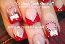 Christmas Nail Art Gallery with Full Tutorials! / Here are 100's of ideas for Christmas nails that cost less than a penny to do. Find them here: https://www.youtube.com/user/robinmosesnailart and tag me #inspiredbyrobinmoses if you copy. It is important I get my art to those struggling to learn and help everyone wanting detailed tutorials to have fun with it!
