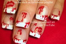 HALLOWEEN nail art pictures with tutorials / halloween TUTORIALS! snagged to each pic is a tutorial. please spread the word and if you copy say inspired by robin moses as they are copyrighted and it helps me so so much :D new stuff every mon, wed and friday!  http://robinmosesnailart.tumblr.com/ http://robinmosesnailart.blogspot.com/ http://www.youtube.com/user/robinmosesnailart http://twitter.com/robinmosesart http://www.facebook.com/robinmosesfanpage http://pinterest.com/robinmoses instagram= robinmosesnailart / by Robin Moses