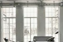 Interiors | Lofty living / Loft apartments and open plan living. Open spaces.