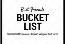 Bucket Lists / Bucket lists are a great way of setting goals and accomplishing those goals.