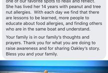 Testimonials for Red Sneakers for Oakley / Messages, emails and posts about how Red Sneakers for Oakley has helped save a life #foodallergyawareness #anaphylaxis #testimonial
