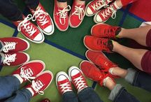 Red Sneakers Point Pleasant Awareness Day / On March 3rd, schools across the Point Pleasant NJ school district held a Red Sneakers Awareness Day #redsneakersforoakley #foodallergyawareness