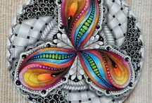 Zentangle/coloured
