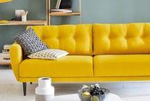 YELLOW DECO / Vivement le printemps ! Voilà de belles inspirations pour égayer notre intérieur ♥ Du jaune, du pep's pour garder le sourire et voir la vie... en jaune ;-)