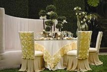 ~ WEDDING RECEPTION ~ / Wedding centerpieces, beautiful table linens, stunning chairs decor....all these details make up the perfect vision. / by BeeCustom Design