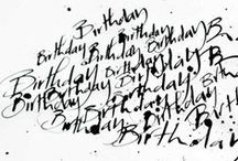 I write therefore I am / Calligraphy