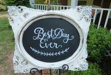 Wedding Chalkboards / Signs / We have the perfect wedding signs for your wedding day!  Check out our selection of wedding rentals!  Its Personal Wedding Staging and Design, Milton, FL