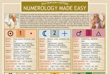 Numerology / Board about numerology. Pins include information on how to analyse someone's birth date and birth name to analyse personality and predict the future.