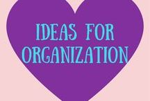 Ideas for Organization / Having an organized life completely changes things. I love when everything has it's place. Always enjoy learning new organization hacks + tips for every place in my life!