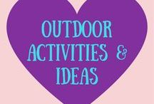 The Great Outdoors / DIY outdoor activities and ideas for what to do outside for kids and adults! Enjoy the outdoors!