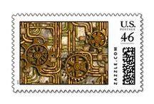 Custom Steampunk Postage Stamps / Vintage style steampunk postage stamps that you can customize. / by Artform The Heart